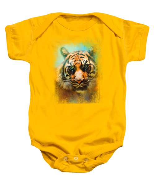 Colorful Expressions Tiger 2 Baby Onesie by Jai Johnson