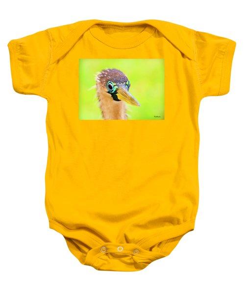 Colorful Female Anhinga Baby Onesie