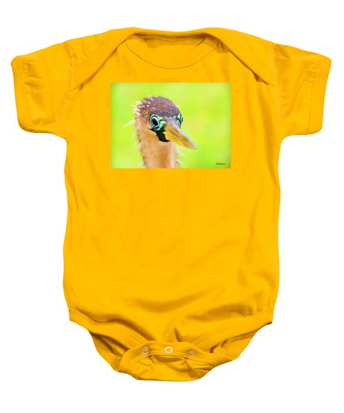 Colorful Female Anhinga Baby Onesie