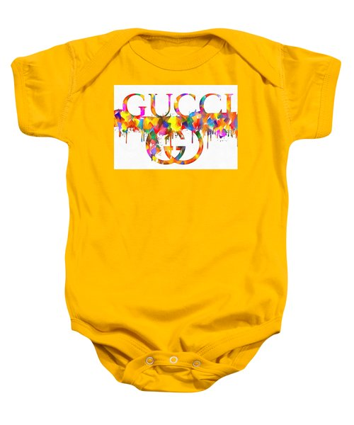 Colorful Gucci Paint Splatter Baby Onesie