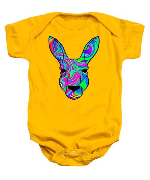 Colorful Kangaroo Baby Onesie by Chris Butler