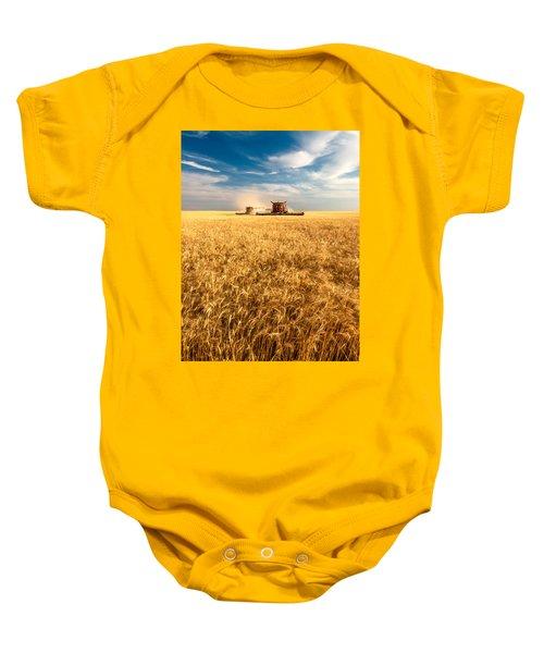 Combines Cutting Wheat Baby Onesie