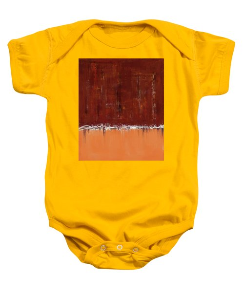 Copper Field Abstract Painting Baby Onesie