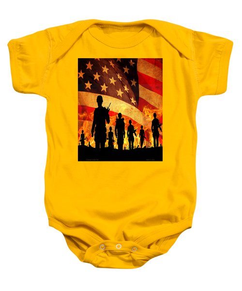 Courage Under Fire Baby Onesie