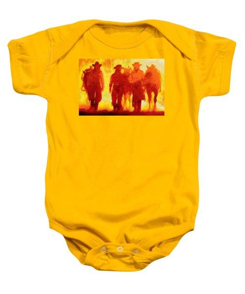 Cowpeople Baby Onesie