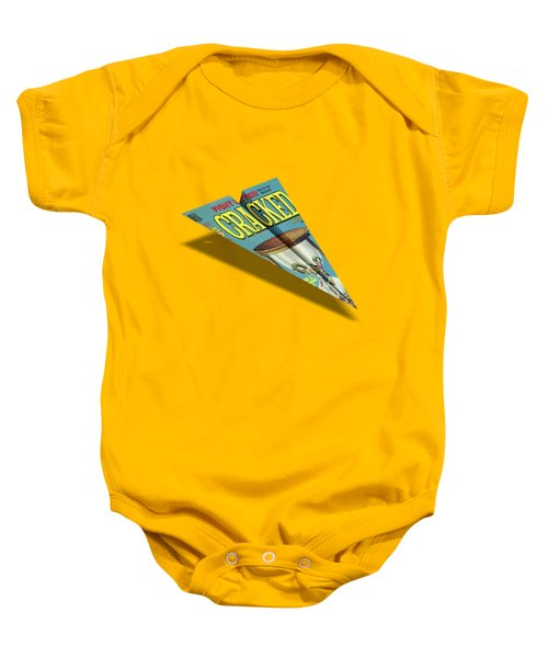 109 Cracked Mad Paper Airplane Baby Onesie