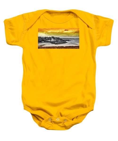 Crail Harbour Baby Onesie by Jeremy Lavender Photography