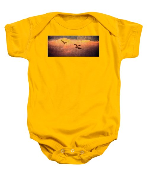 Cranes Lifting Into The Sky Baby Onesie