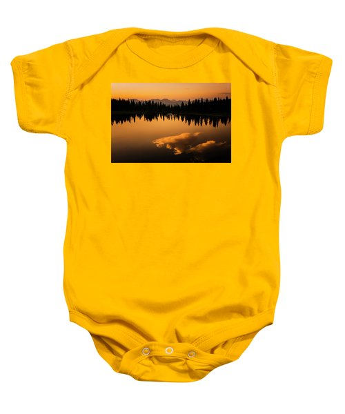 Crater Lake Sunset Baby Onesie
