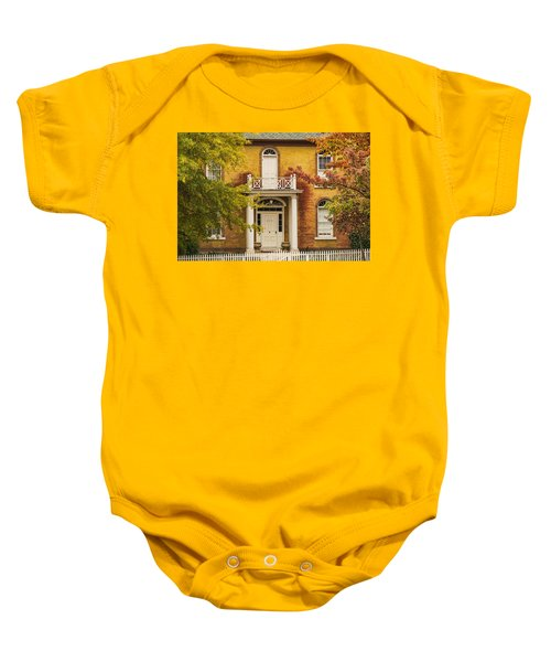 Crooked White Fence Baby Onesie