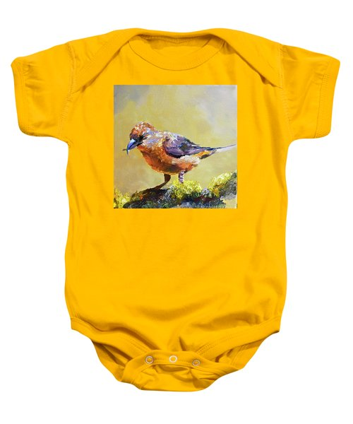 Crossbill Baby Onesie by Jan Hardenburger