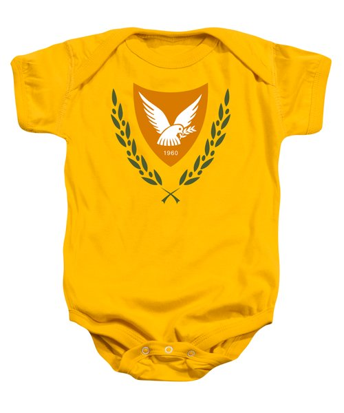 Cyprus Coat Of Arms Baby Onesie by Movie Poster Prints