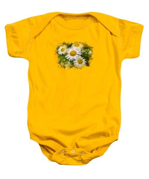 Daisy Watercolor Art Baby Onesie