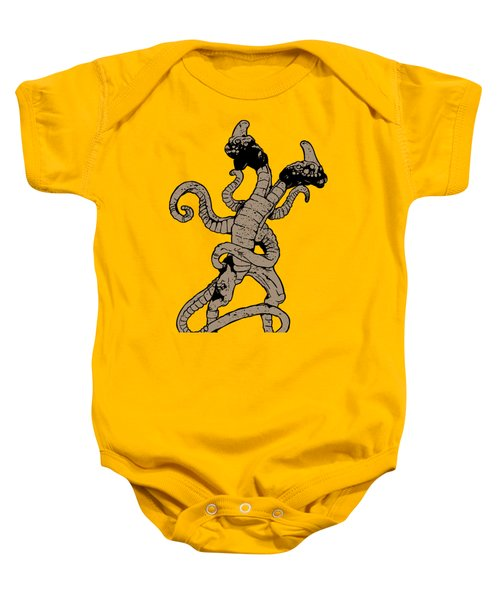 Demogorgon Stranger Things Digital Version Baby Onesie by Jason Wright