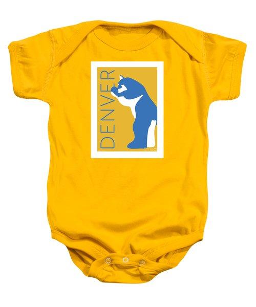 Denver Blue Bear/gold Baby Onesie