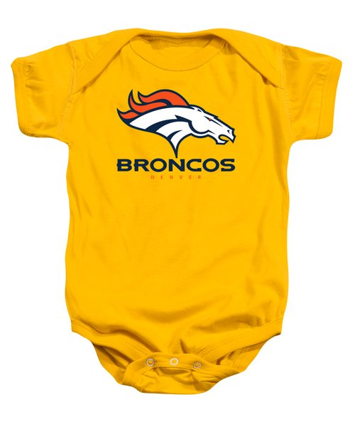 Denver Broncos On An Abraded Steel Texture Baby Onesie