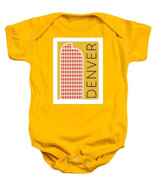 Denver Cash Register Bldg/gold Baby Onesie
