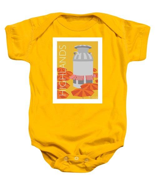 Denver Highlands/gold Baby Onesie