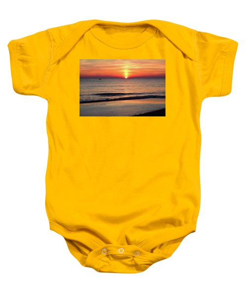 Dolphin Jumping In The Sunrise Baby Onesie
