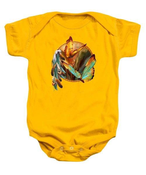 Dream Catcher - Spirit Of The Butterfly Baby Onesie