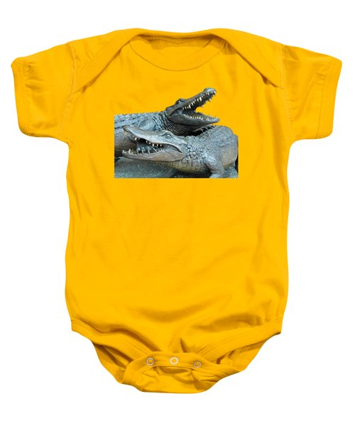 Dueling Gators Transparent For Customization Baby Onesie by D Hackett