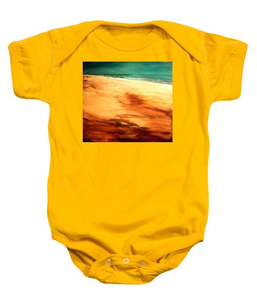Baby Onesie featuring the painting Dune Shadows by Winsome Gunning