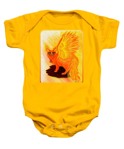 Elemental Fire Fairy Cat Baby Onesie by Carrie Hawks