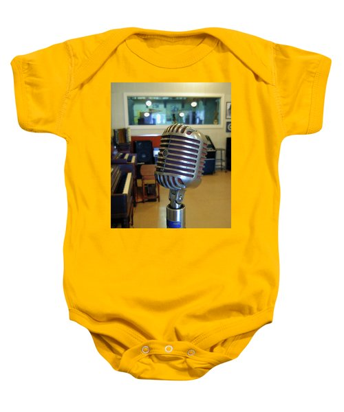 Baby Onesie featuring the photograph Elvis Presley Microphone by Mark Czerniec