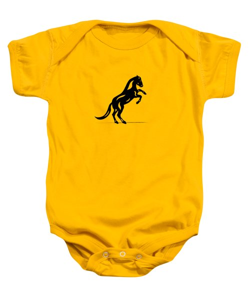 Emma II - Abstract Horse Baby Onesie