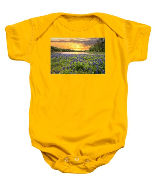 End Of A Bluebonnet Day Baby Onesie