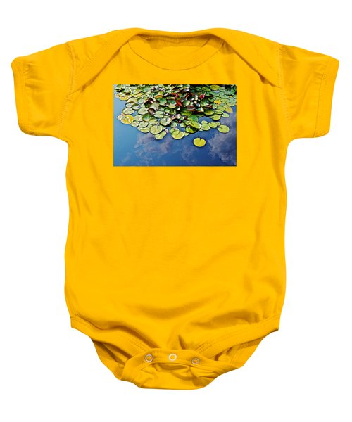 End Of July Water Lilies In The Clouds Baby Onesie