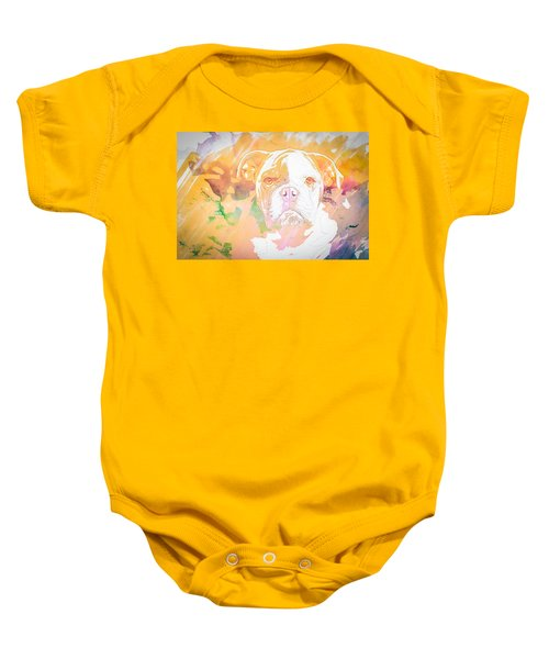 English Bulldog Wc Baby Onesie