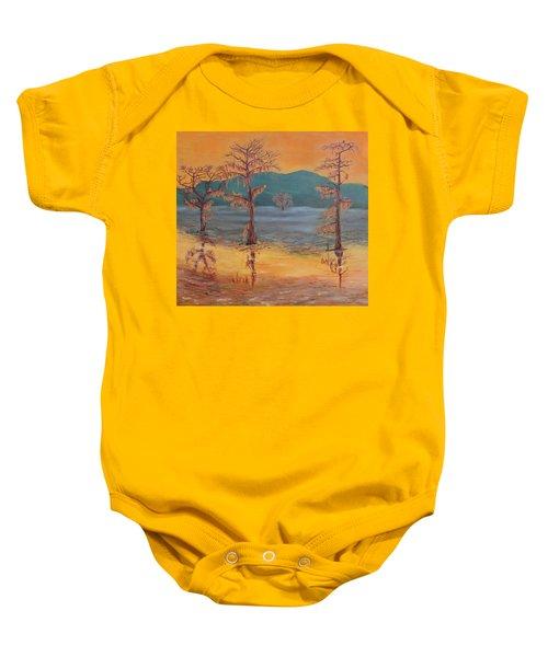 Evening On Caddo Lake Baby Onesie