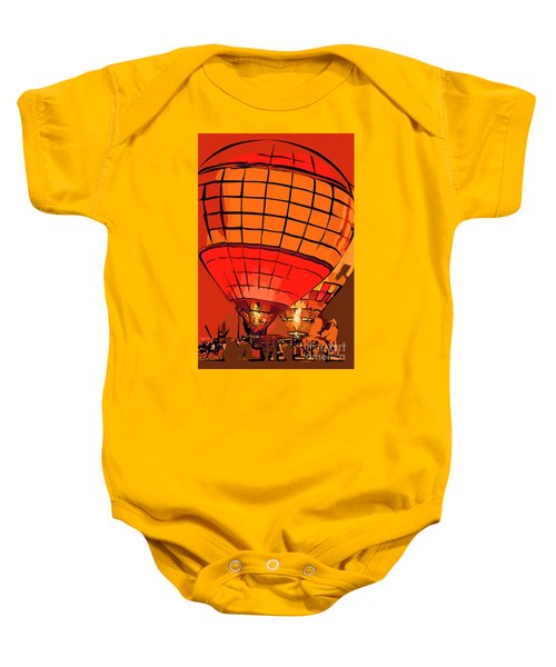 Evening Glow Red And Yellow In Abstract Baby Onesie