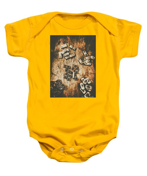 Evolution In Early Gaming Baby Onesie