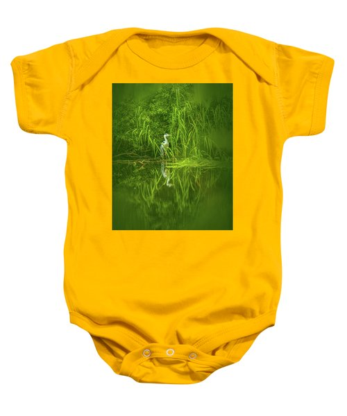 Fairy Tale Heron #g5 Baby Onesie