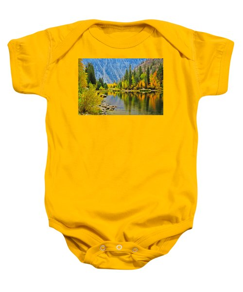 Fall At North Lake Baby Onesie