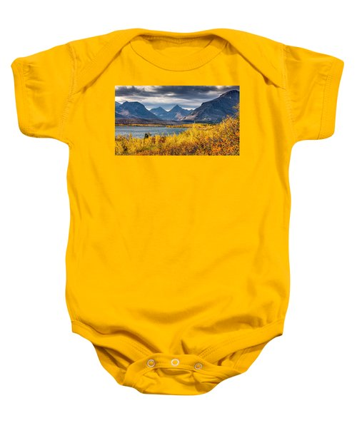 Fall Colors In Glacier National Park Baby Onesie