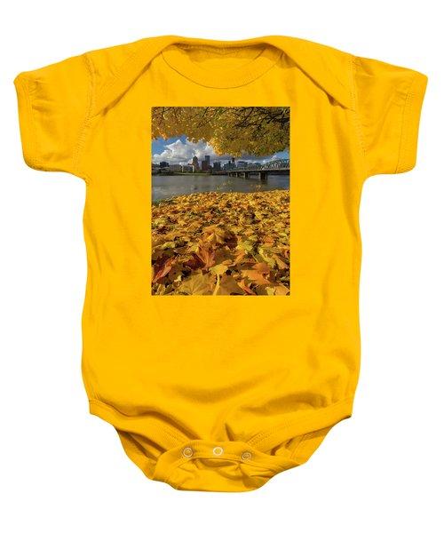 Fall Foliage In Portland Oregon City Baby Onesie