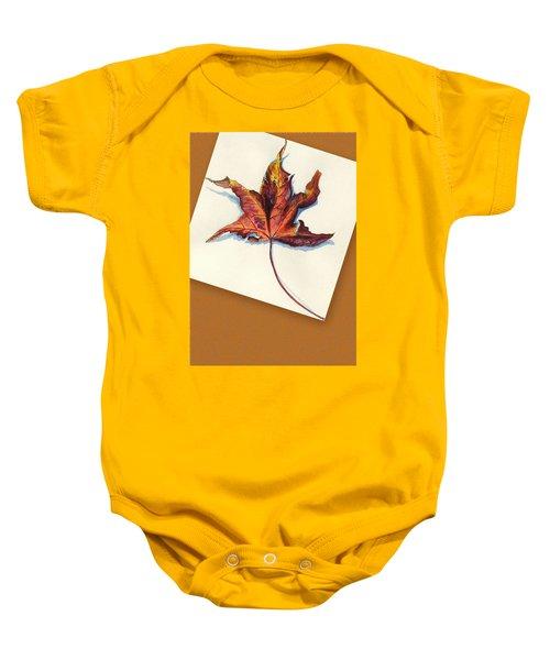 Fall Leaf Baby Onesie