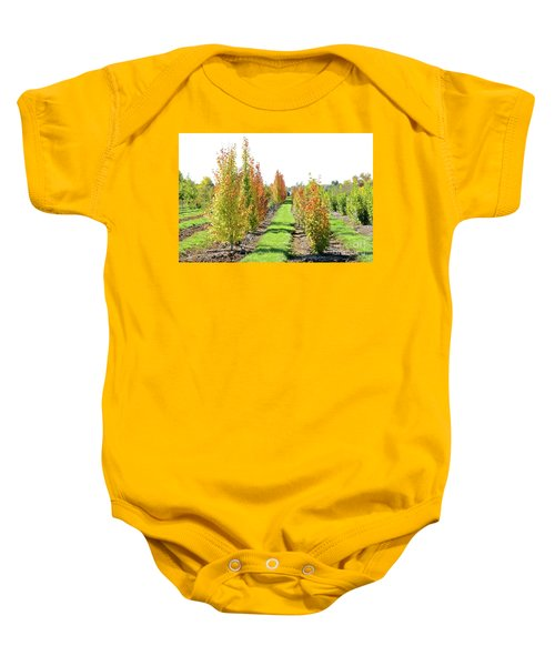 Fall On The Tree Farm Baby Onesie