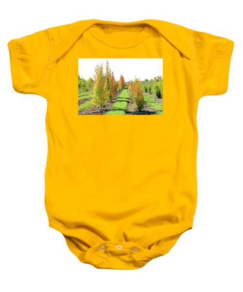 Fall On The Tree Farm Baby Onesie