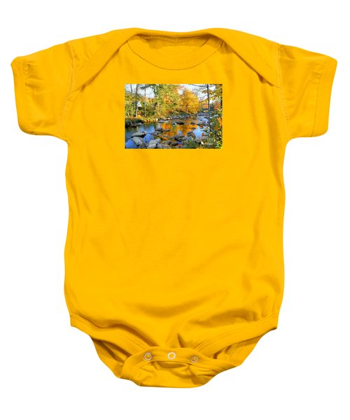 Fall Reflections In Jackson Baby Onesie