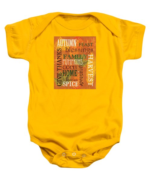 Fall Typography 1 Baby Onesie