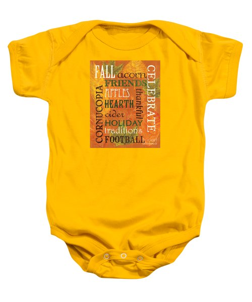 Fall Typography 2 Baby Onesie