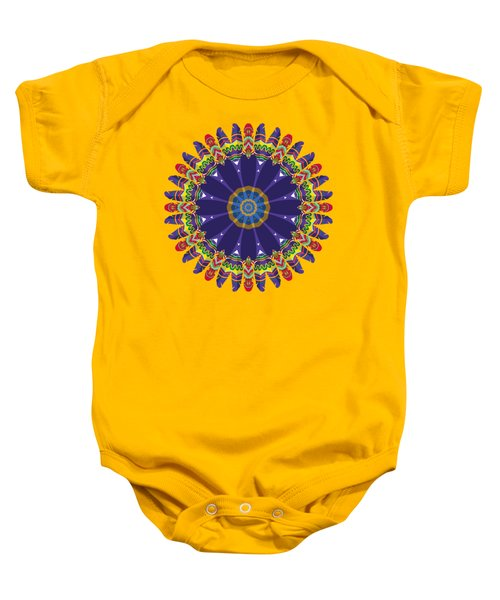 Feathers In The Round Baby Onesie
