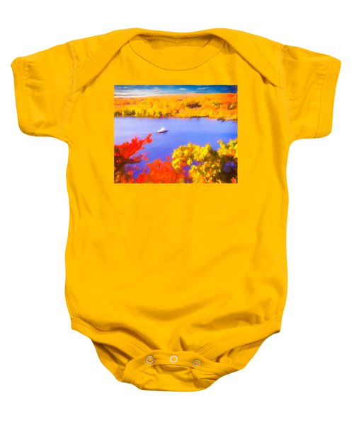Ferry Crossing Connecticut River. Baby Onesie