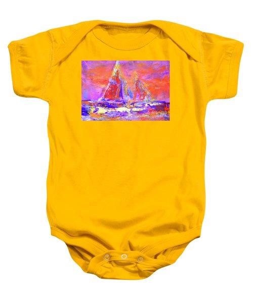 Festive Sailboats 11-28-16 Baby Onesie