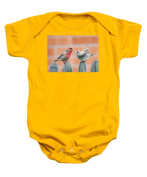 Feuding Finches Baby Onesie