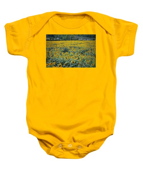 Field Of Flowers  Baby Onesie